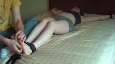 ZenTickling - Melissa's Feet and Knees TickledZenTickling