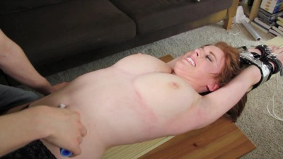 ZenTickling - Ginger Topless and Stretched OutZenTickling
