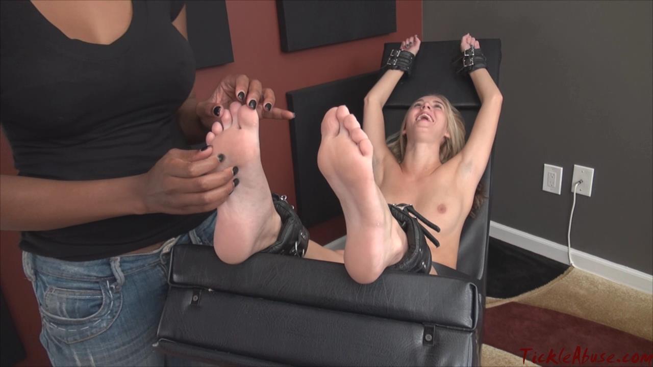 Naked girl feet tickled
