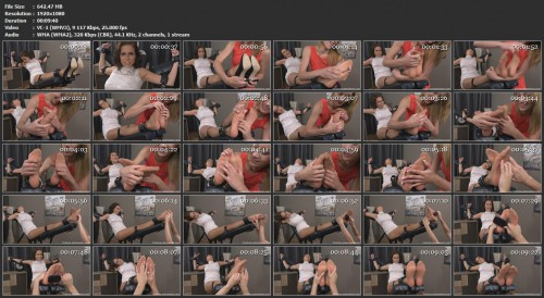 Tickling-Submission - Extra ticklish feet in nylonTickledFeet VIP Clips