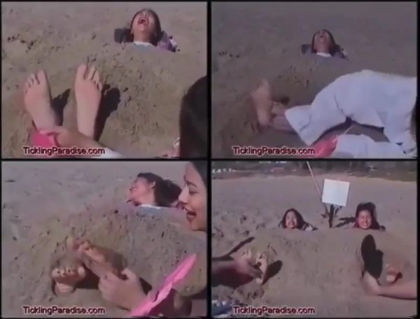 TicklingParadise - TWO Buried in Sand!!TicklingParadise