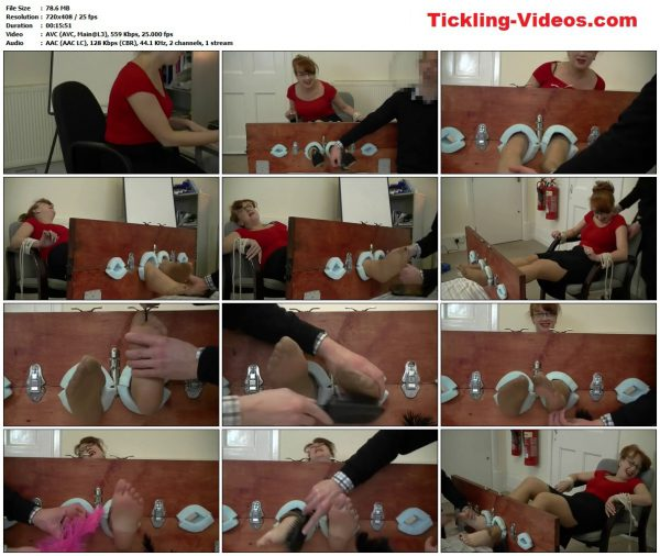 UKTickling - Mistress Red's First Office Tickle In Nylons - Part 1UKTickling