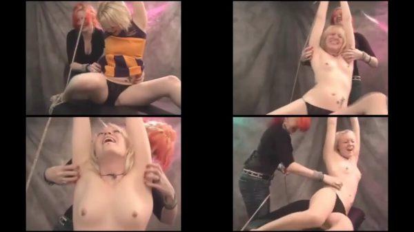 BlueFetish - Tickling the Naughty Cheerleader w-Aries & Domina SkyeBlueFetish