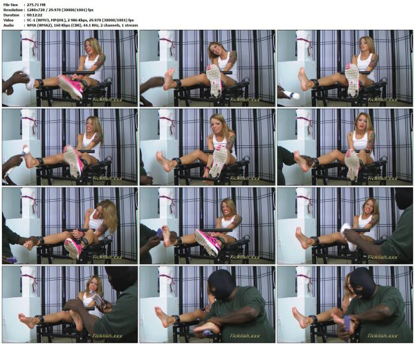 ShyAndWildTickling - Tickled Toy - Part 1 - Foot Tickled In StocksShyAndWildTickling