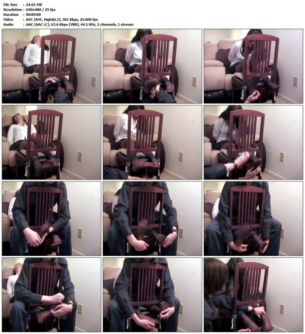 TickleFiend - Purress Blindfolded Nylon Clad In The TicklechairTickleFiend