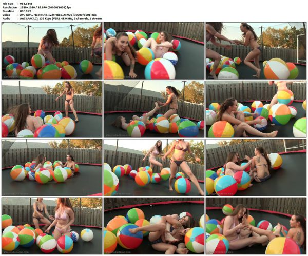GinarysTickleAdventures - Bouncing Tickle Fight With Terra Mizu & Sasha FoxxxGinaryTickleAdventures VIP Clips