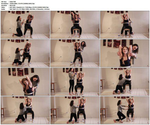 RussianFetish - Sally and Sabina. Girl-girl tickling (upper body)RussianFetish VIP Clips