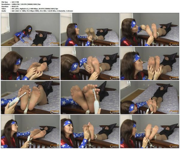 TickleTorture - Wonder Milf Captures and Tickles Dark WidowTickleTorture