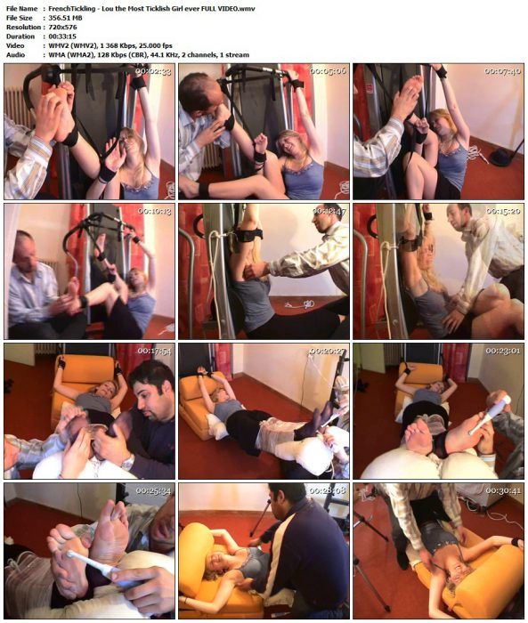 FrenchTickling - Lou the Most Ticklish Girl ever FULL VIDEOFrenchTickling