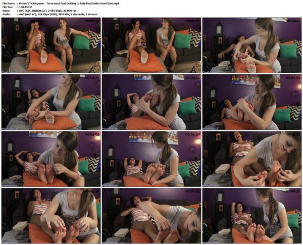 Primal'sTicklegasm - Terra uses foot tickling to help heal Sofia's hurt footPrimal'sTicklegasm VIP Clips