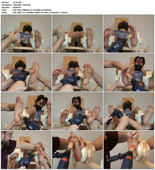 TheEvilTicklers - Suzanne gagged and tickled (barefoot)TheEvilTicklers