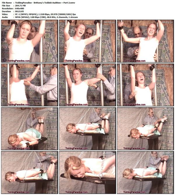 TicklingParadise - Brittany's Ticklish Audition ~ Part 2TicklingParadise