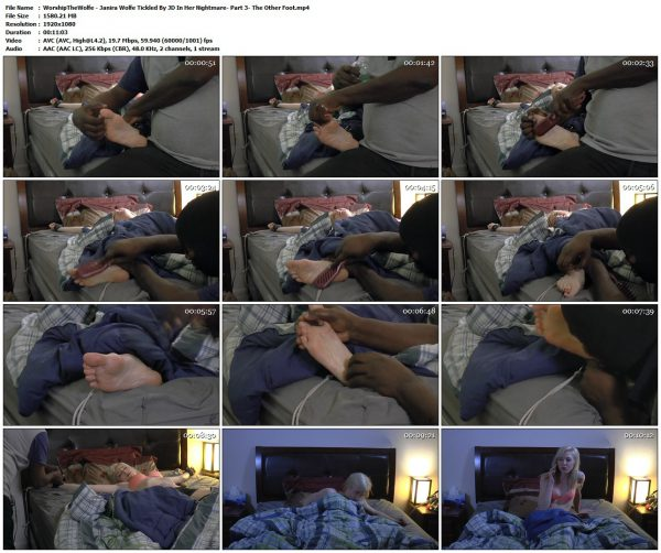 WorshipTheWolfe - Janira Wolfe Tickled By JD In Her Nightmare - Part 3 - The Other FootVIP Clips WorshipTheWolfe