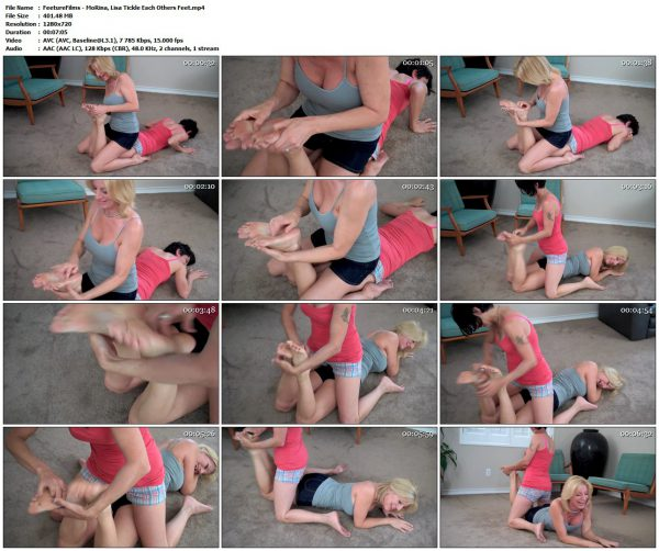 FeetureFilms - MoRina, Lisa Tickle Each Others FeetFeetureFilms VIP Clips