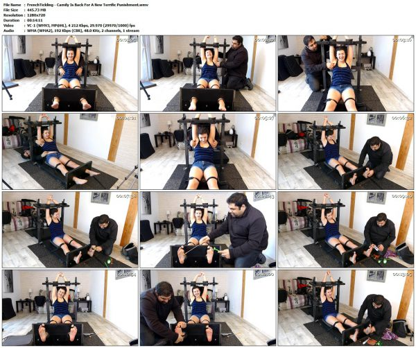 FrenchTickling - Camily Is Back For A New Terrific PunishmentFrenchTickling