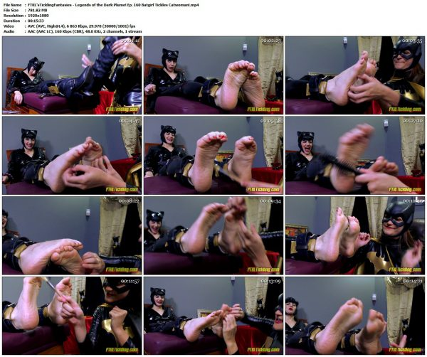 FTKL'sTicklingFantasies - Legends of the Dark Plume! Ep. 160 Batgirl Tickles Catwoman!FTKL'sTicklingFantasies VIP Clips