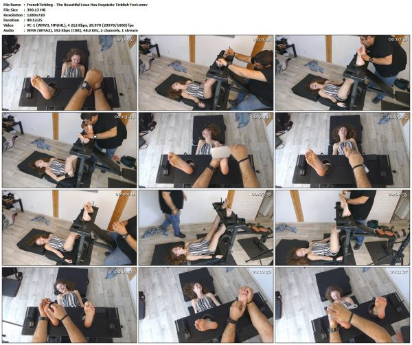 FrenchTickling - The Beautiful Loue Has Exquisite Ticklish FeetFrenchTickling