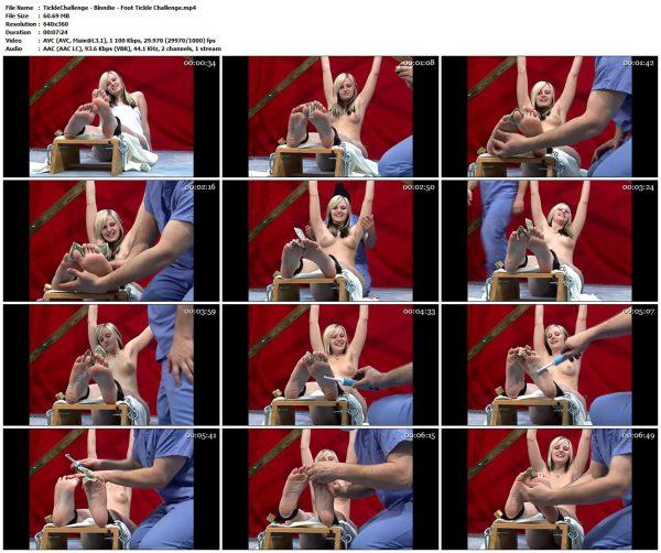 TickleChallenge - Blondie - Foot Tickle ChallengeTickleChallenge
