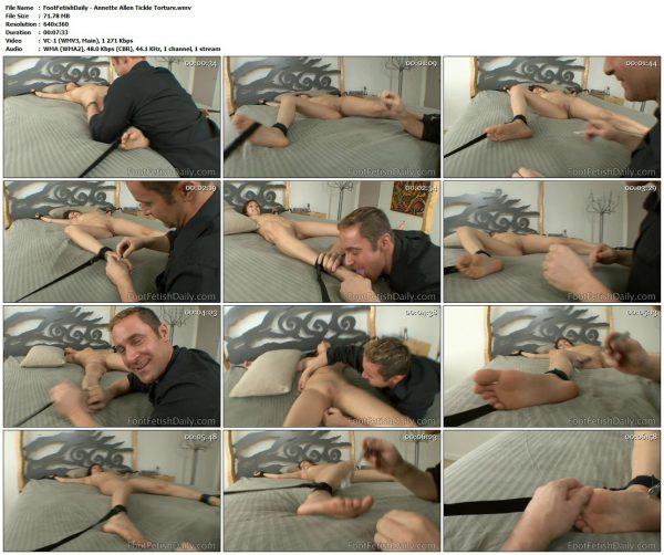 FootFetishDaily - Annette Allen Tickle TortureFootFetishDaily