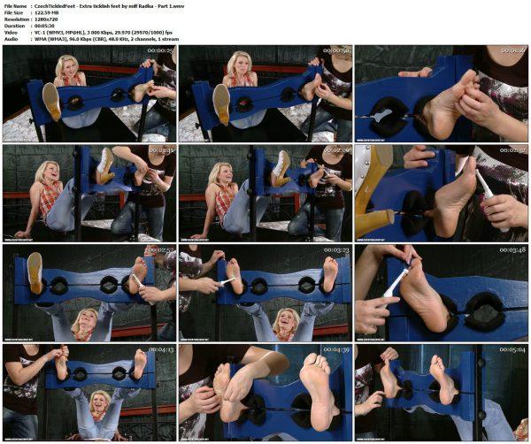 CzechTickledFeet - Extra ticklish feet by milf Radka - Part 1TickledFeet