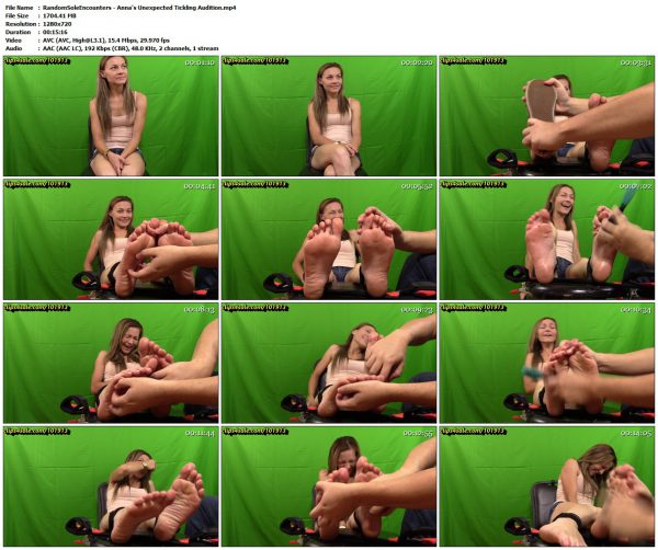 RandomSoleEncounters - Anna's Unexpected Tickling AuditionRandomSoleEncounters VIP Clips