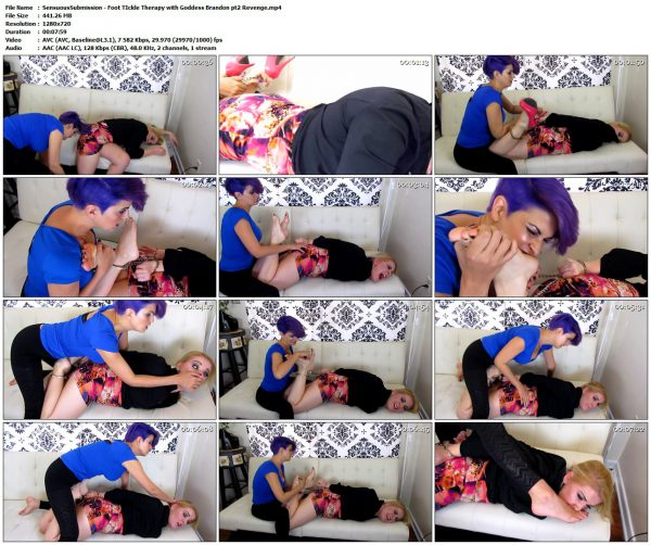 SensuousSubmission - Foot TIckle Therapy with Goddess Brandon pt2 RevengeSensuousSubmission