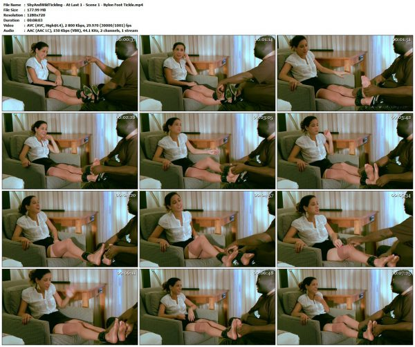 ShyAndWildTickling - At Last 1 - Scene 1 - Nylon Foot TickleShyAndWildTickling