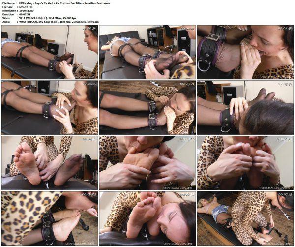 UKTickling - Faye's Tickle Lickle Torture For Tillie's Sensitive Feet!UKTickling VIP Clips