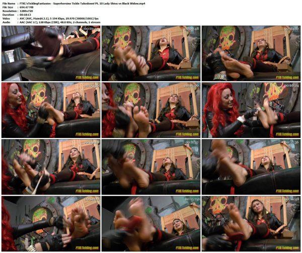 FTKL'sTicklingFantasies - Superheroine Tickle Takedown! Pt. 10 Lady Shiva vs Black WidowFTKL'sTicklingFantasies
