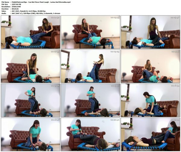PolishMistressClips - Can Not Move Must Laugh - Larisa And WeronikaPolishMistressClips VIP Clips