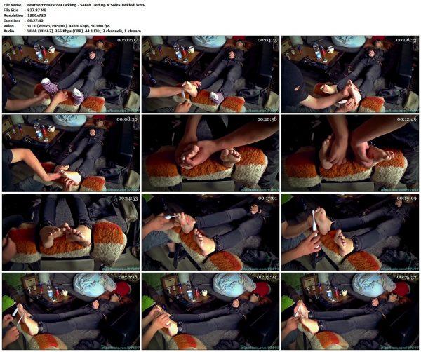 FeatherFreaksFootTickling - Sarah Tied Up & Soles Tickled!FeatherFreaksFootTickling VIP Clips