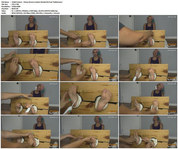 TickleTorture - Krissy Koven Locked, Stocked & Foot TickledTickleTorture VIP Clips