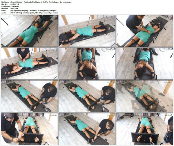 FrenchTickling - Tickling In The Stocks Is Hell For The Malagasy Girl LouisaFrenchTickling VIP Clips