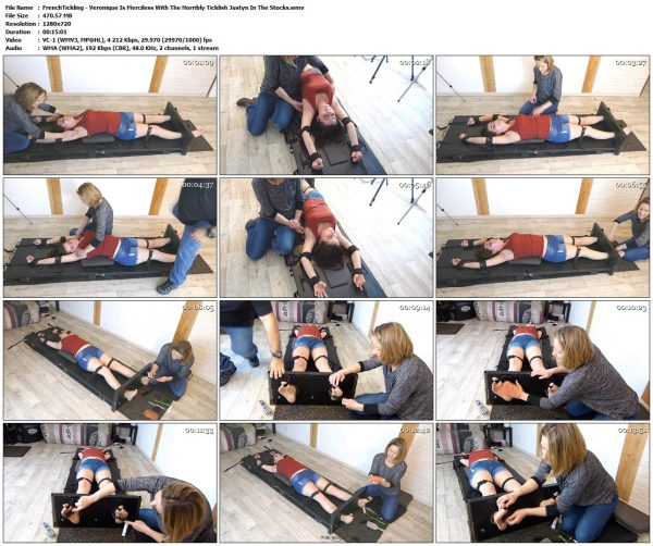 FrenchTickling - Veronique Is Merciless With The Horribly Ticklish Justyn In The StocksFrenchTickling VIP Clips