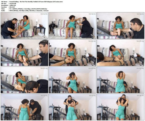 FrenchTickling - We Met The Horribly Ticklish 18 Years Old Malagasy Girl LouisaFrenchTickling VIP Clips