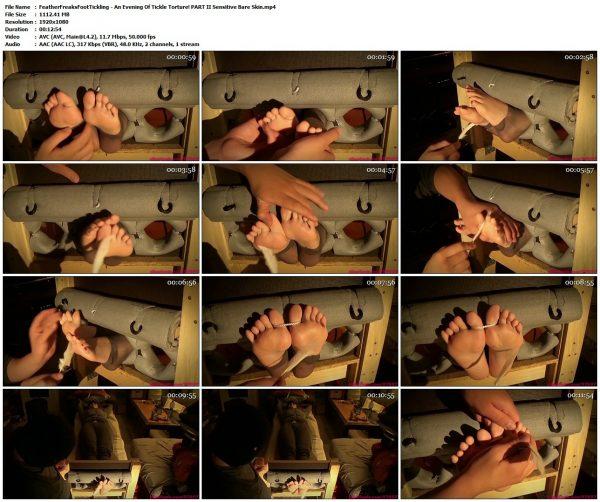 FeatherFreaksFootTickling - An Evening Of Tickle Torture! PART II Sensitive Bare SkinFeatherFreaksFootTickling VIP Clips