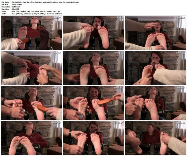 "TickledPink - New Bare Feet Audition "" Wait, Wait, Ok, Please stop for a minute""TickledPink VIP Clips"