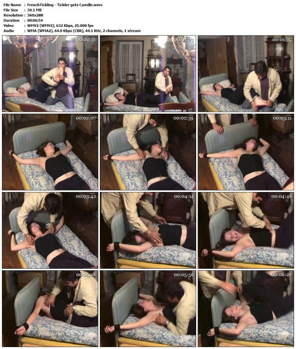 FrenchTickling - Tickler gets CamilleFrenchTickling