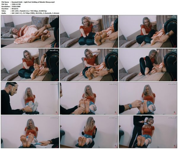 RussianFetish - Light feet tickling of blonde OlesyaRussianFetish VIP Clips