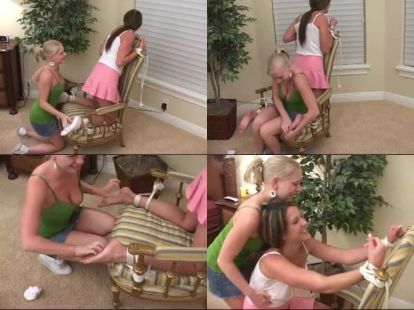 TickleCentral - Britney Brooks Gets Chair Tied Tickle RevengeTickleCentral