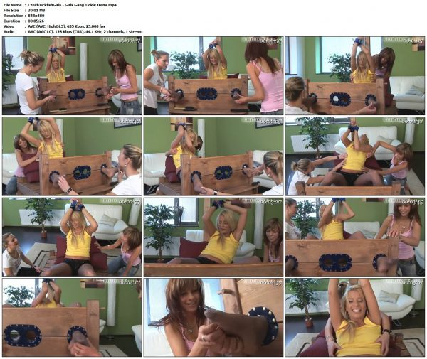 CzechTicklishGirls - Girls Gang Tickle IrenaTickling