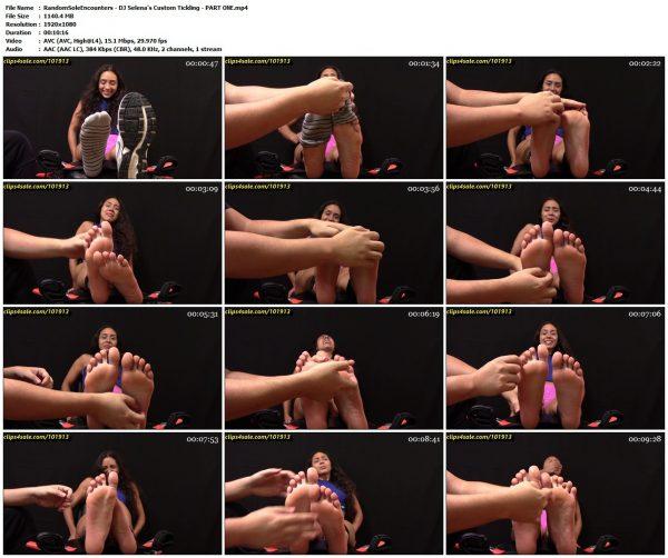 RandomSoleEncounters - DJ Selena's Custom Tickling - PART ONERandomSoleEncounters VIP Clips