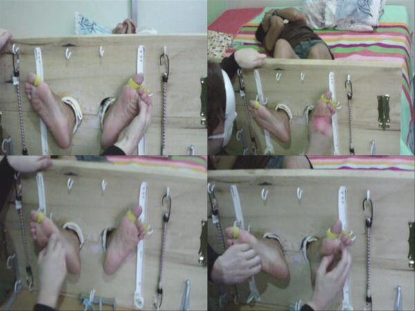 AsianFootTickling - Andrea Stocked And TickledAsianFootTickling