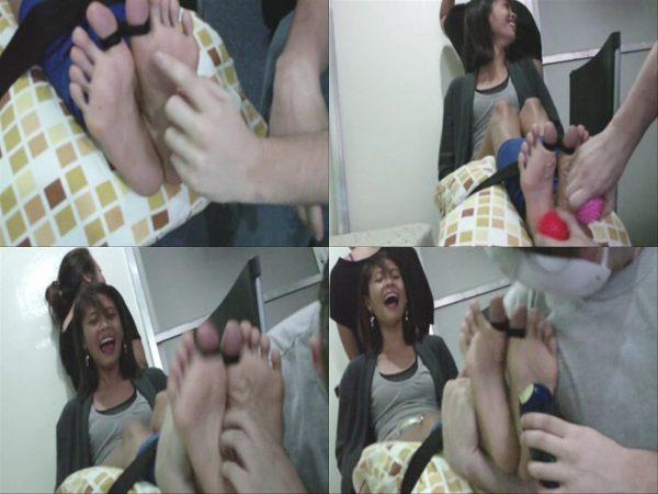 AsianFootTickling - Gina's Chair Tied, Toe Tied TormentAsianFootTickling