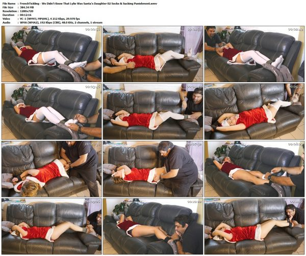 FrenchTickling - We Didn't Know That Lylie Was Santa's Daughter 02 Socks & Sucking PunishmentFrenchTickling VIP Clips