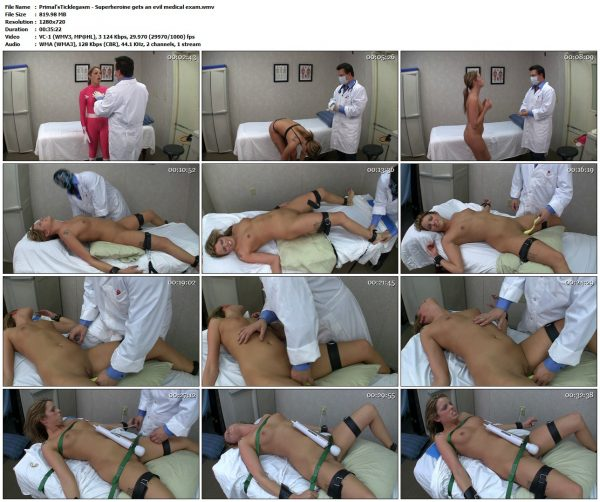 Primal'sTicklegasm - Superheroine gets an evil medical examPrimal'sTicklegasm