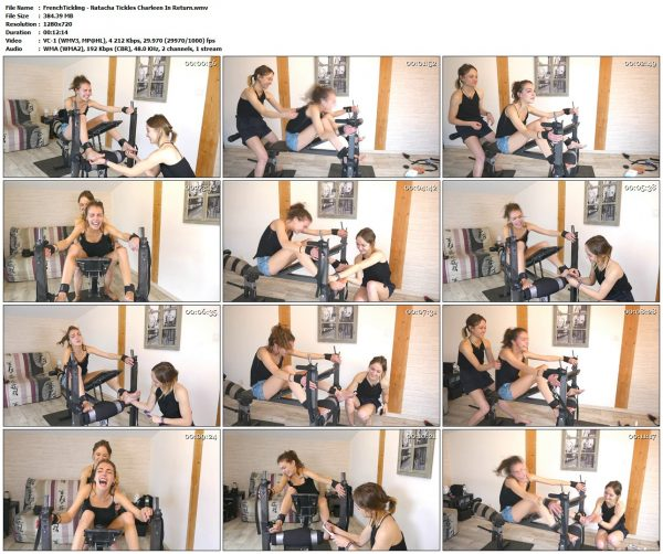 FrenchTickling - Charleen Tickles Natacha To Hell On The BenchFrenchTickling VIP Clips