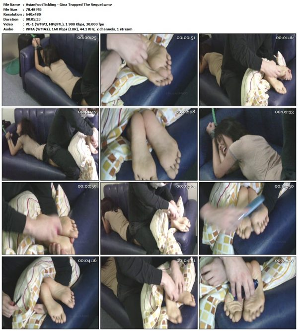 AsianFootTickling - Gina Trapped The SequelAsianFootTickling