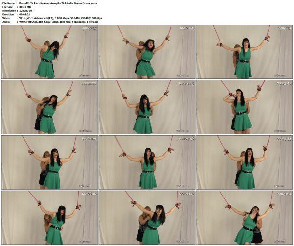 BoundToTickle - Nyxons Armpits Tickled in Green DressBoundToTickle