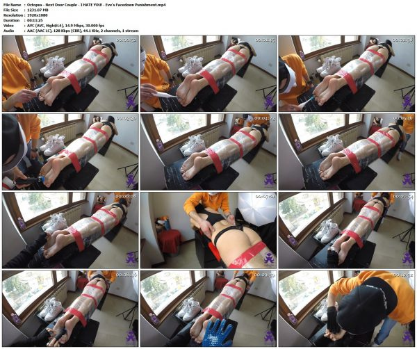 Octopus - Next Door Couple - I HATE YOU! - Eve's Facedown PunishmentOctopus VIP Clips